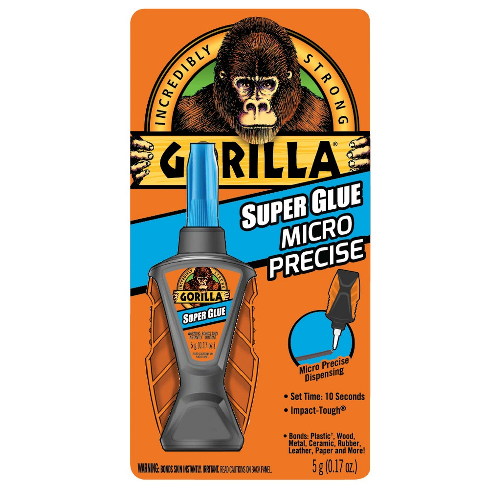 Super Glue Micro Precise, 0.19 oz, Dries Clear, 4/Carton