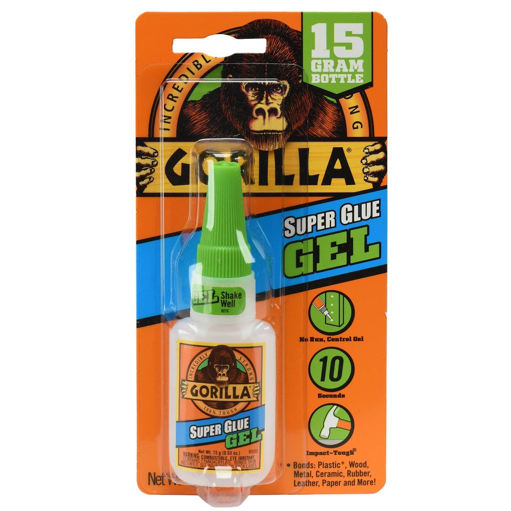 Super Glue Gel, 0.53 oz, Dries Clear, 4/Carton