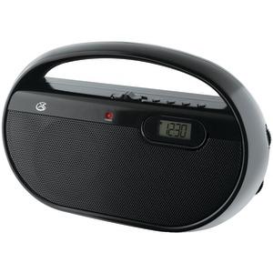 GPX R602B BLACK PORTABLE RADIO AM FM DIGITAL CLOCK BUILT IN