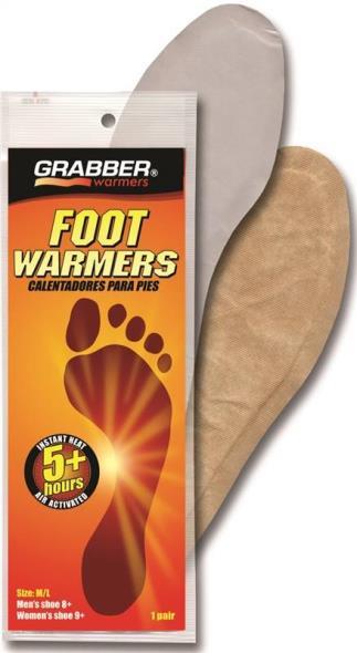 Grabber FWMLES Non-Toxic Foot Warmer, 5 hr, 95 Deg F