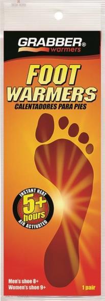 Grabber FWSMES Non-Toxic Foot Warmer, 5 hr, 95 Deg F