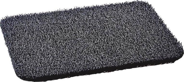 GrassWorx AstroTurf Durable Door Mat, 30 in L X 18 in W, Cinder