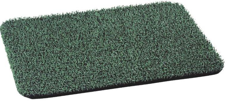GrassWorx AstroTurf Door Mat, 30 in L X 18 in W, Polyethylene, Spruce Green