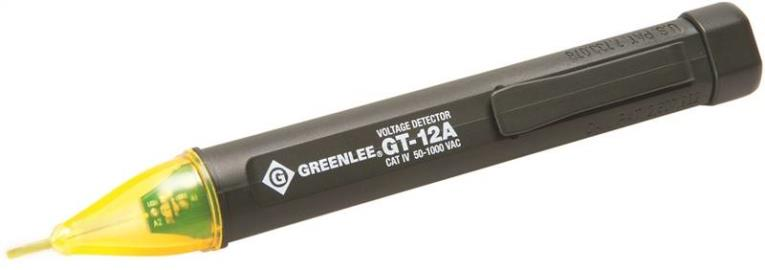 Greenlee GT-12 Non Contact Voltage Tester, 5 - 1000 VAC, Bright LED Display