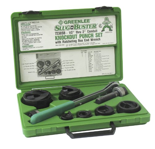 Greenlee 7238SB Knockout Kit, 3 Pieces, 1/2 - 2 in