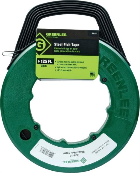 FISHTAPE REEL W/HNDL STL 125FT