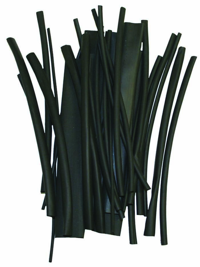 30 PC ASSORTED SIZES BLACK HEAT SHRINK
