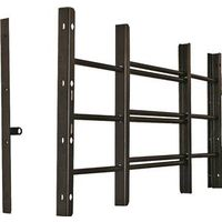 Grisham 93013 Horizontal Adjustable Window Guard, 22-3/4 in W x 14-3/4 in H, Solid Tubular Steel