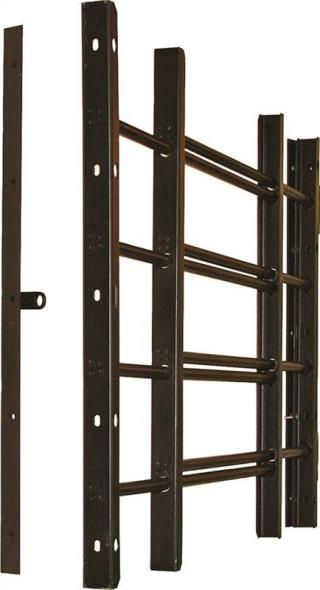 GUARD WINDOW ADJ 4BAR BLACK