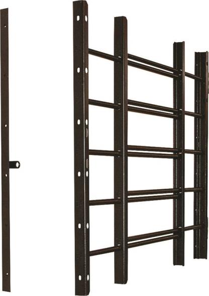 GUARD WINDOW ADJ 5BAR BLACK