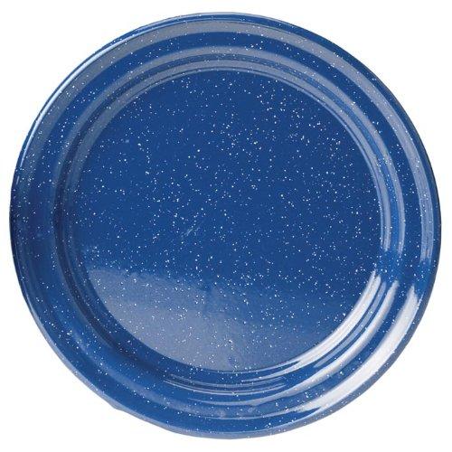 GSI Blue Enamel Dinner Plate, 10in