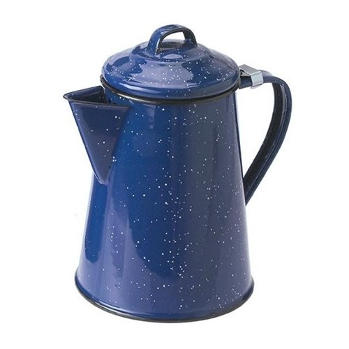 GSI Blue Enamel Coffee Pot, 6 Cup