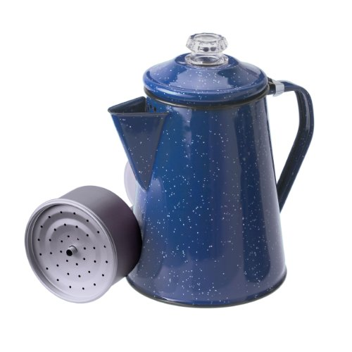 GSI Blue Coffee Pot W/ Perk, 12 Cup
