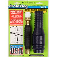 Drain King VIP2 Drain Opener/Cleaner, 1-1/2 - 3 in, Plastic