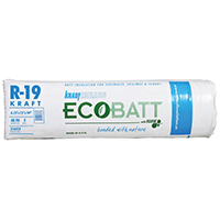 EcoBatt Pro Cut PR115 Kraft Faced Fiberglass Insulation, 15 in W x 94 ft L x 6-1/4 in T, 48.96 sq-ft, Wood Frame
