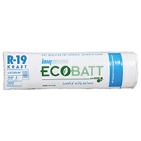 EcoBatt Pro Cut PR116 Kraft Faced Fiberglass Insulation, 23 in W x 94 ft L x 6-1/4 in T, 75.07 sq-ft, Wood Frame