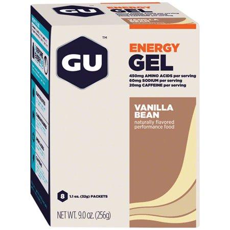GU Energy Gel, 8 Pack, Vanilla