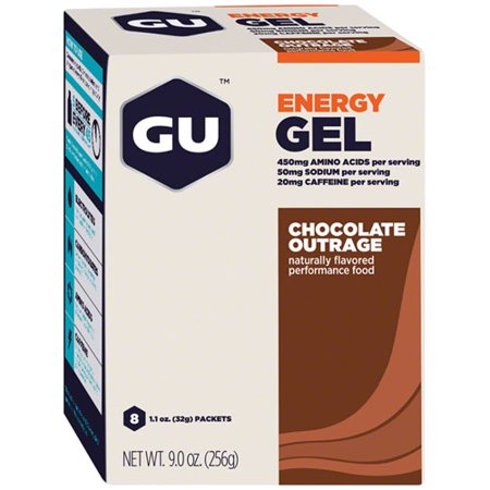 GU Energy Gel, 8 Pack, Chocolate Outrage