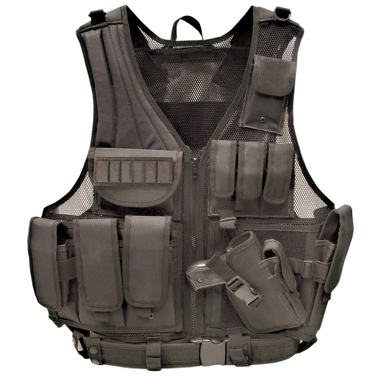 Galati Gear Black Deluxe Tactical Vest - Standard