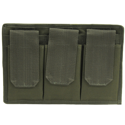3 Pocket Mag Pouch Velcro Back Olive Drab