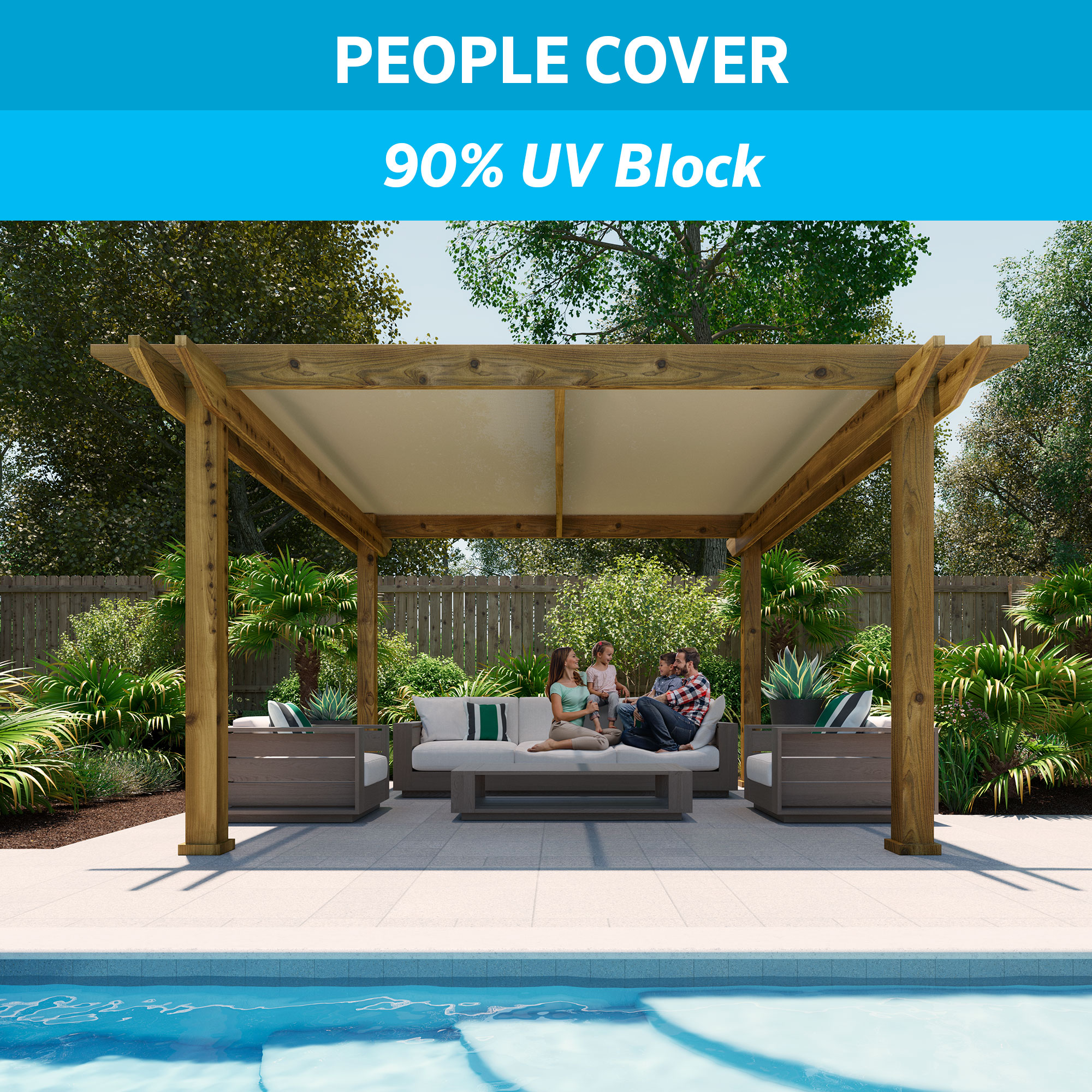 Coolaroo 90% UV Shade Fabirc 6'x50' Beech