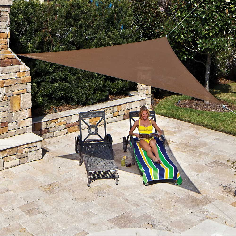 "Coolaroo Ready to Hang Shade Sail 11'10"" Tri Mocha"