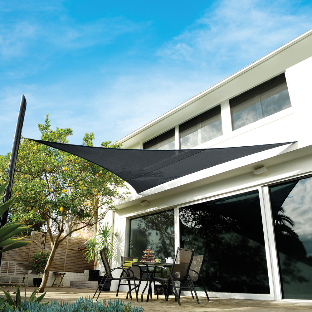 "Premium Shade Sail Kit 16'5"" Triangle Slate"