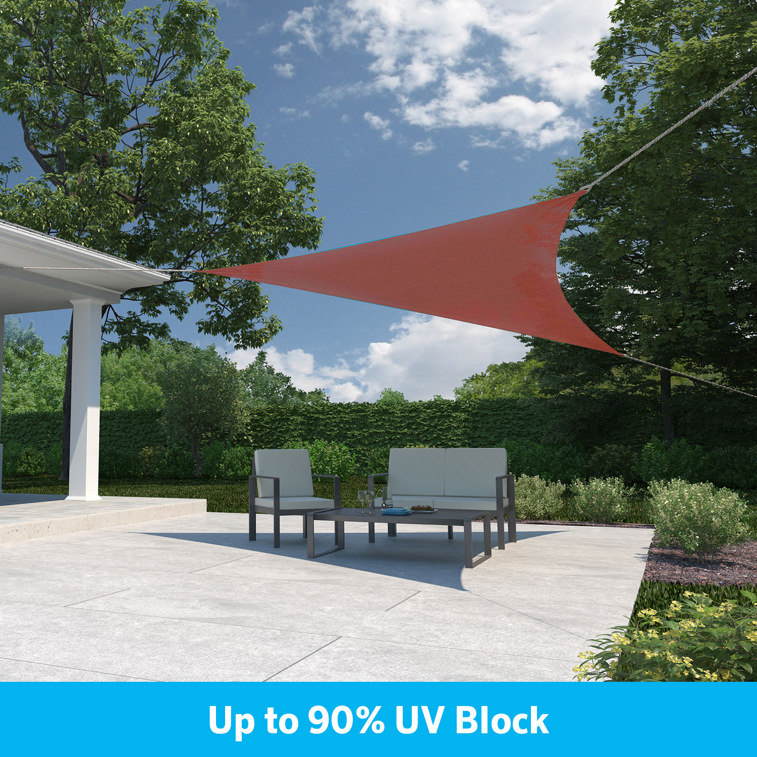"Ready to Hang Shade Sail 11'10"" Tri Brick"