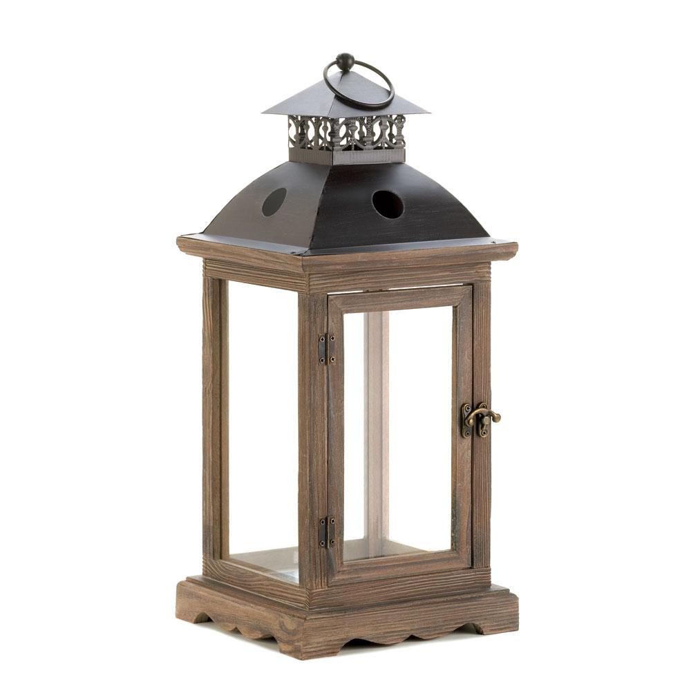Monticello Wood Lantern (L)