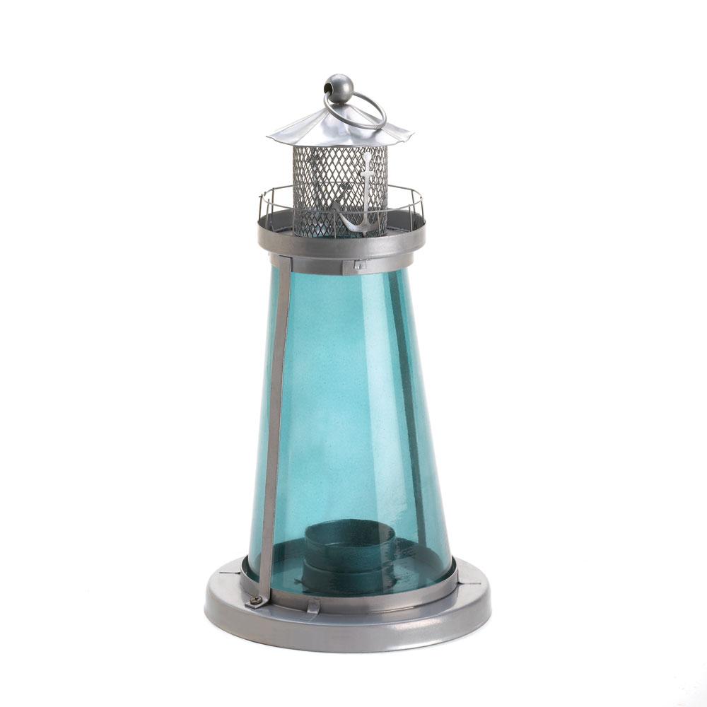 Blue Watch Tower Candle Lantern Lamp