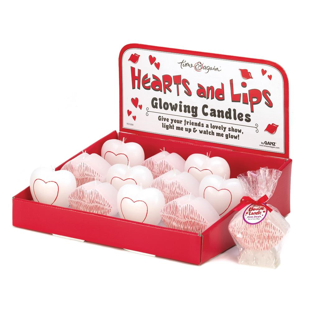 Hearts & Lips Glowing Candles