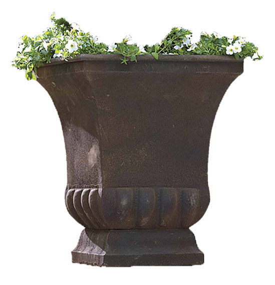 Rustic Metal Urn Large