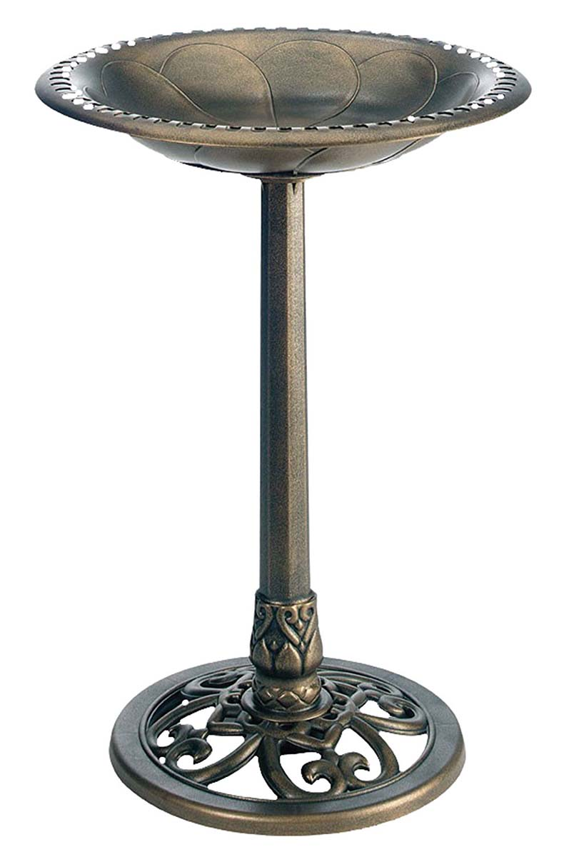Pedestal Bird Bath Bronze