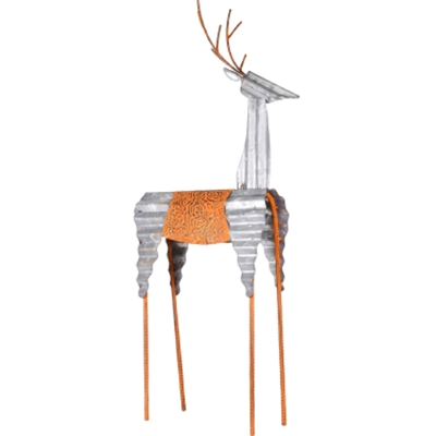 "GT 30""H Metal Deer Decoration"