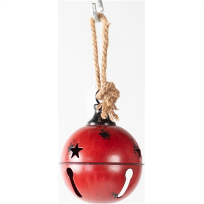 "GT 4.75""Hanging Red Metal Bell"