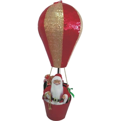 "GT 43.3""H Santa in Hot Air Bal"