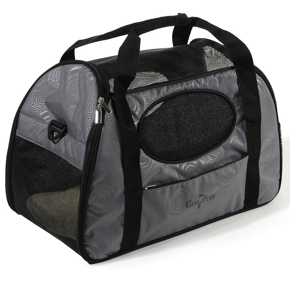 Gen7Pets Carry-Me Fashion Pet Safety Travel Shoulder Carrier / Tote Bag Large - Gray Shadow