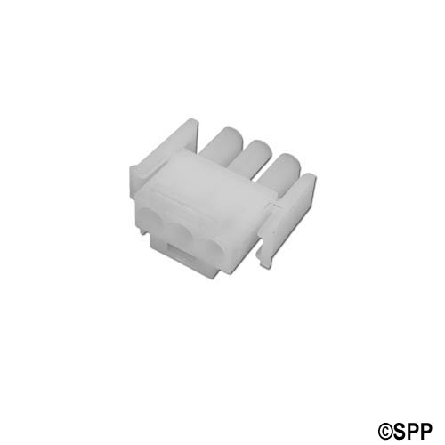 Amp Plug, 3 Pin Male, White