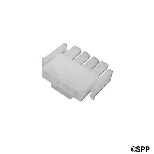 Amp Plug, 4 Pin Male, White