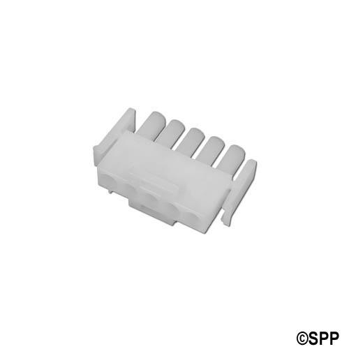 Amp Plug, 5 Pin Male, White