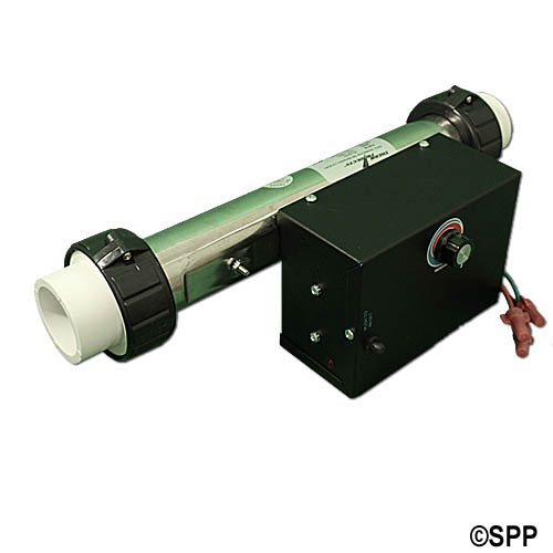 "Heater Assembly, Generic, 5.5kW, 230V, 2"" x 13""Long, w/Enclosure, T-Stat, Hi-Liimt, Pressure Switch, Tailpieces"