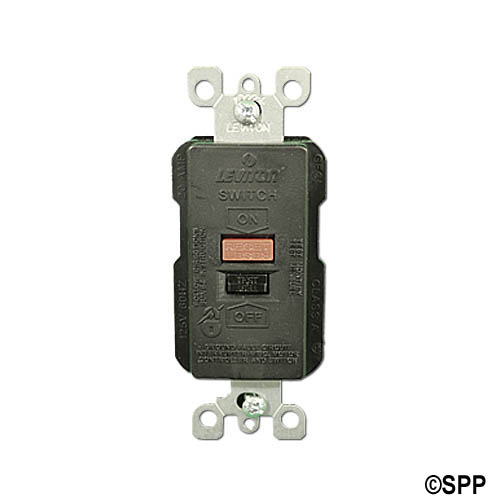 GFCI, Leviton, High Current, 230V, 50 Amp, Black