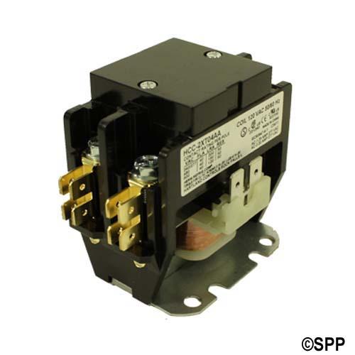 Contactor, DPST, 115VAC Coil, 50A