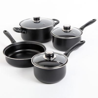 SB Newbrook 7 piece NonStick Cookware Black