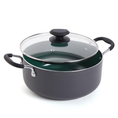 GH 5 Quart DutchOven Green Ceramic