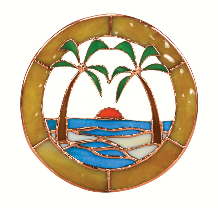 Small Palm Tree Window Panel