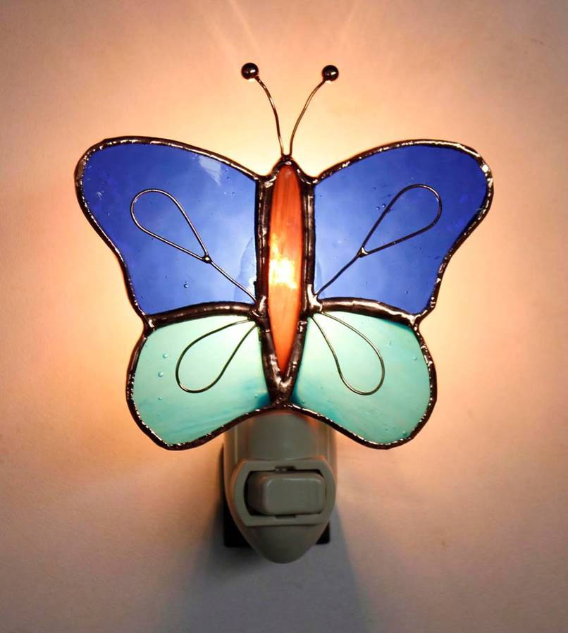 Dark & Light Blue Butterfly Nightlight