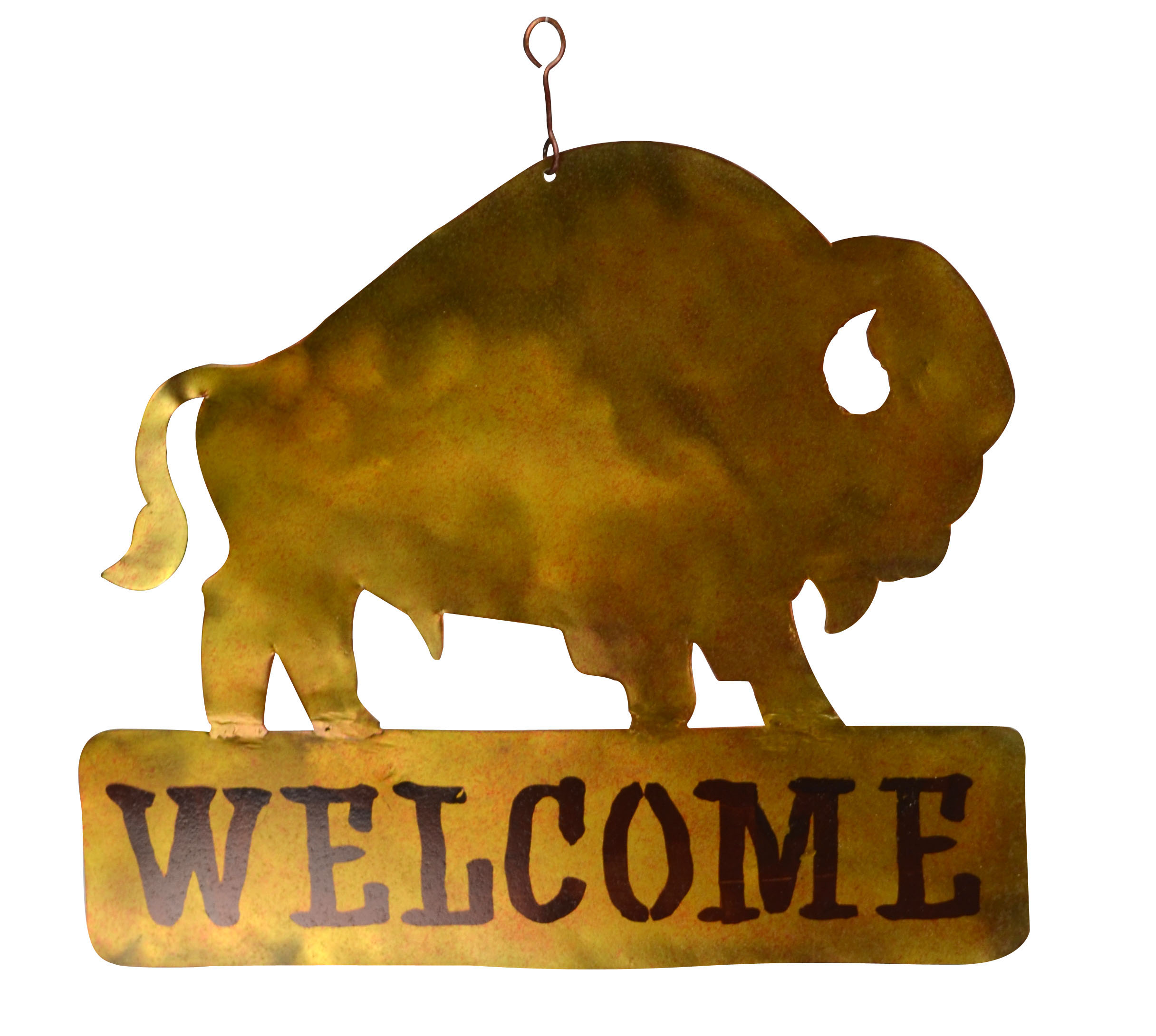Bison Welcome Sign