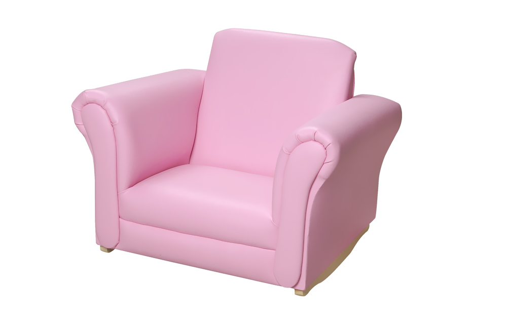 Gift Mark Gift Mark Pink Upholstered Rocking Chair