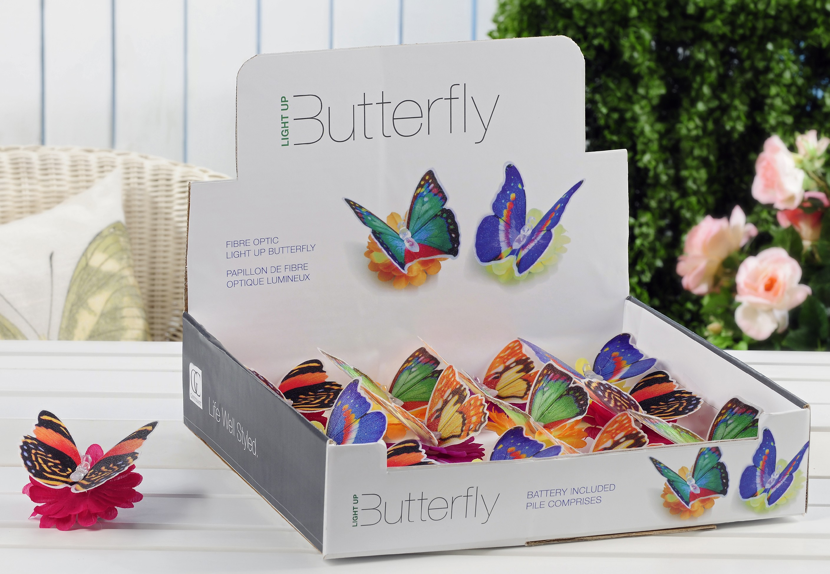 LED Lighted Butterfly Tealite with Display
